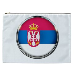 Serbia Flag Icon Europe National Cosmetic Bag (xxl)