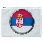 Serbia Flag Icon Europe National Cosmetic Bag (XXL)  Front