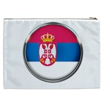 Serbia Flag Icon Europe National Cosmetic Bag (XXL)  Back