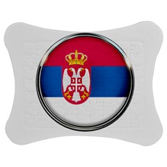 Serbia Flag Icon Europe National Jigsaw Puzzle Photo Stand (bow) by Nexatart