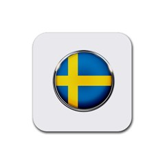 Sweden Flag Country Countries Rubber Coaster (square)  by Nexatart