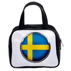 Sweden Flag Country Countries Classic Handbags (2 Sides)