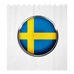 Sweden Flag Country Countries Shower Curtain 66  X 72  (large)