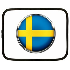 Sweden Flag Country Countries Netbook Case (xl)  by Nexatart