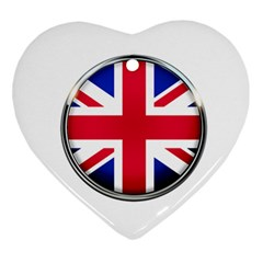 United Kingdom Country Nation Flag Ornament (heart)