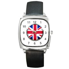United Kingdom Country Nation Flag Square Metal Watch by Nexatart
