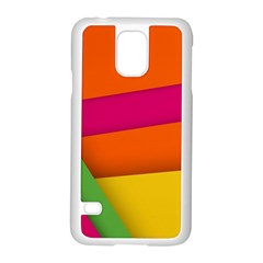 Background Abstract Samsung Galaxy S5 Case (white)