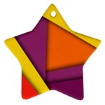 Background Abstract Star Ornament (Two Sides) Front