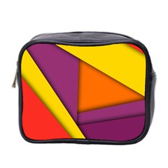 Background Abstract Mini Toiletries Bag 2 Side