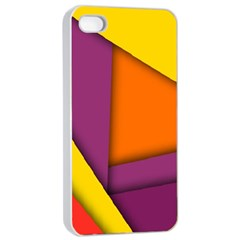 Background Abstract Apple Iphone 4/4s Seamless Case (white)