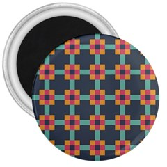 Squares Geometric Abstract Background 3  Magnets