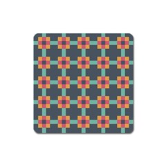 Squares Geometric Abstract Background Square Magnet by Nexatart