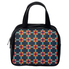 Squares Geometric Abstract Background Classic Handbags (one Side)