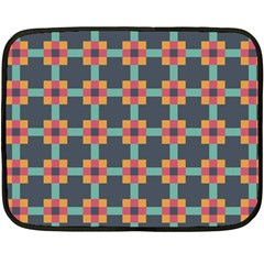 Squares Geometric Abstract Background Fleece Blanket (mini)