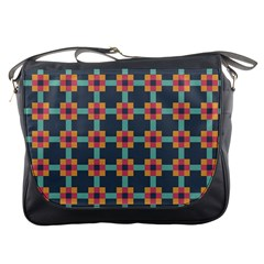 Squares Geometric Abstract Background Messenger Bags