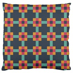 Squares Geometric Abstract Background Large Cushion Case (one Side)