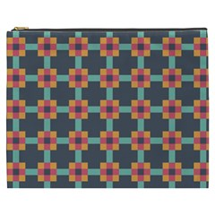 Squares Geometric Abstract Background Cosmetic Bag (xxxl)  by Nexatart