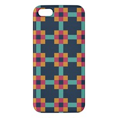 Squares Geometric Abstract Background Apple Iphone 5 Premium Hardshell Case