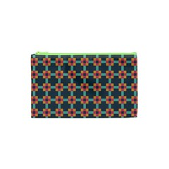 Squares Geometric Abstract Background Cosmetic Bag (xs)