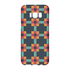 Squares Geometric Abstract Background Samsung Galaxy S8 Hardshell Case