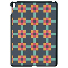 Squares Geometric Abstract Background Apple Ipad Pro 9 7   Black Seamless Case by Nexatart
