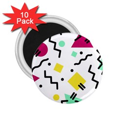 Art Background Abstract Unique 2 25  Magnets (10 Pack)