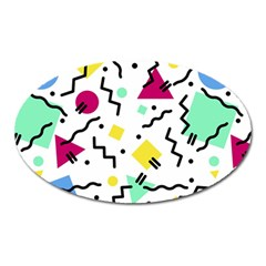 Art Background Abstract Unique Oval Magnet