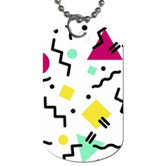 Art Background Abstract Unique Dog Tag (one Side)