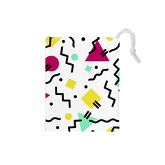 Art Background Abstract Unique Drawstring Pouches (small)  by Nexatart