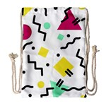 Art Background Abstract Unique Drawstring Bag (Large) Front