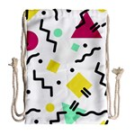 Art Background Abstract Unique Drawstring Bag (Large) Back