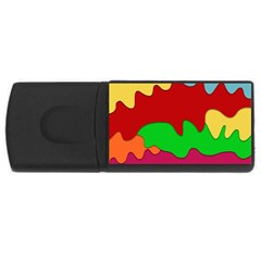 Liquid Forms Water Background Rectangular Usb Flash Drive