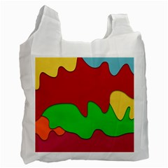 Liquid Forms Water Background Recycle Bag (one Side)