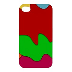 Liquid Forms Water Background Apple Iphone 4/4s Premium Hardshell Case