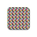 Background Abstract Geometric Rubber Square Coaster (4 pack)  Front