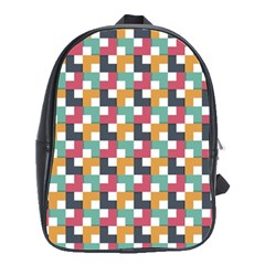 Background Abstract Geometric School Bag (large) by Nexatart