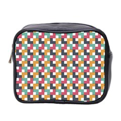 Background Abstract Geometric Mini Toiletries Bag 2 Side by Nexatart