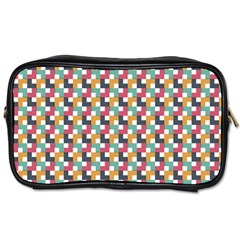 Background Abstract Geometric Toiletries Bags 2 Side