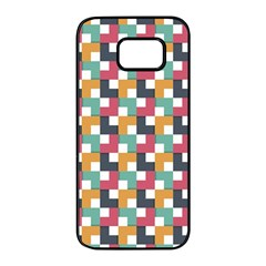 Background Abstract Geometric Samsung Galaxy S7 Edge Black Seamless Case