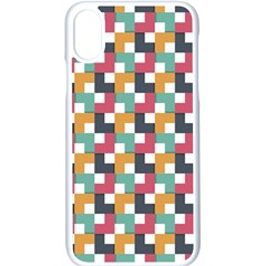 Background Abstract Geometric Apple Iphone X Seamless Case (white) by Nexatart