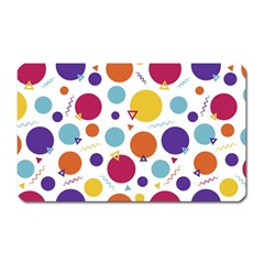 Background Polka Dot Magnet (rectangular)