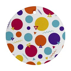 Background Polka Dot Round Ornament (two Sides) by Nexatart