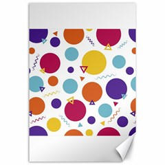 Background Polka Dot Canvas 24  X 36  by Nexatart