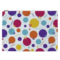 Background Polka Dot Cosmetic Bag (xxl)  by Nexatart