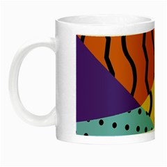 Background Abstract Memphis Night Luminous Mugs