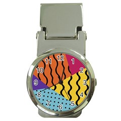 Background Abstract Memphis Money Clip Watches