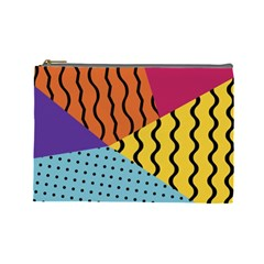 Background Abstract Memphis Cosmetic Bag (large)