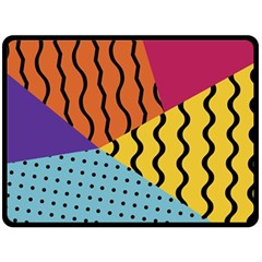 Background Abstract Memphis Double Sided Fleece Blanket (large)