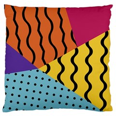 Background Abstract Memphis Standard Flano Cushion Case (one Side)