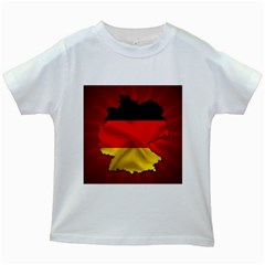 Germany Map Flag Country Red Flag Kids White T Shirts